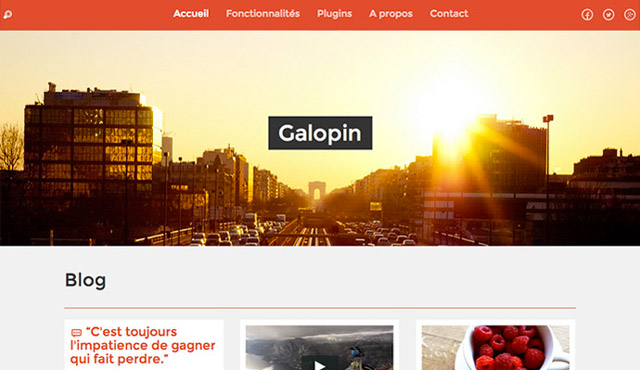 Theme WordPress Galopin