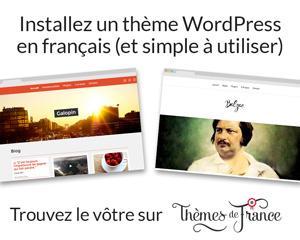 Trouvez un thème WordPress en français sur Thèmes de France